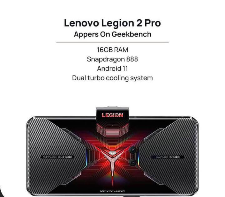 Spesifikasi Lenovo Legion 2 Pro