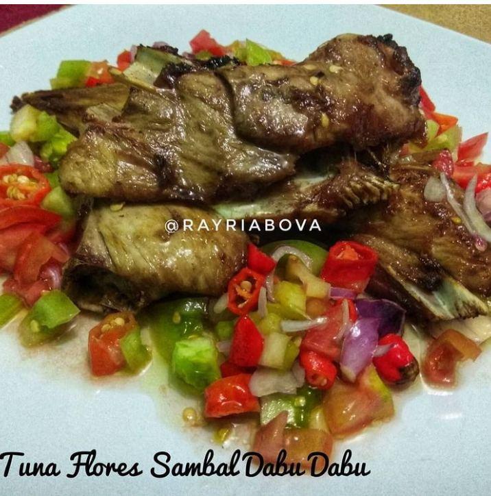 Gambar ikan tuna Flores sambal dabu-dabu