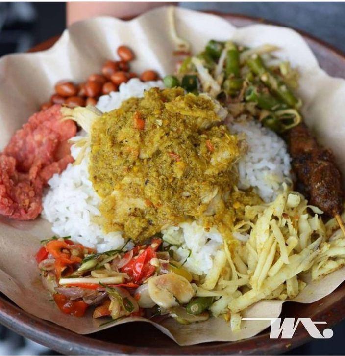 Gambar nasi tepeng yang sudah dikonsumsi