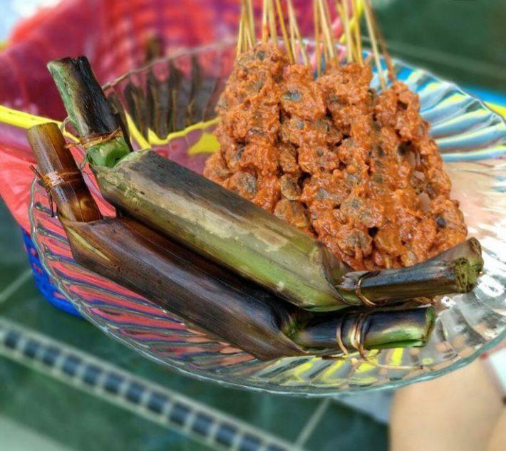 Gambar Sate Pokea yang unik dan lezat dan merupakan makanan khas Kendari
