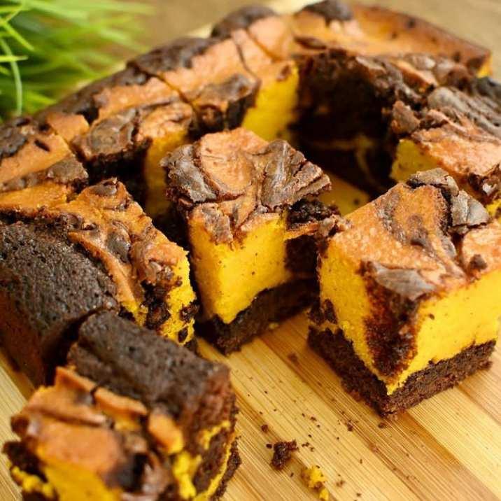 Gambar brownies labu yang sudah siap dikonsumsi
