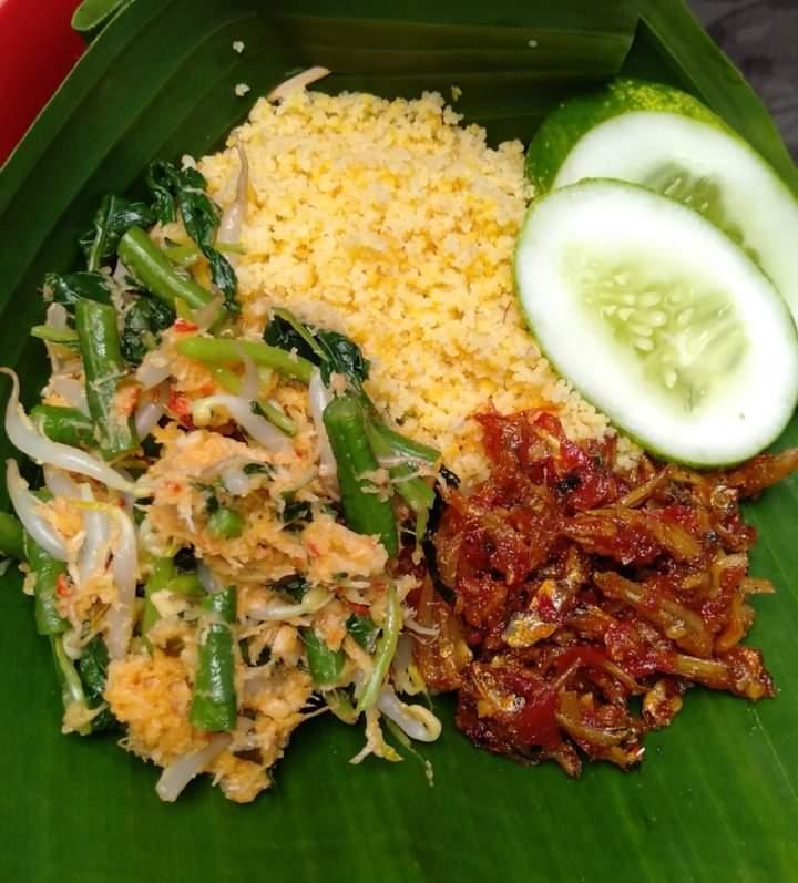 Gambar Nasi jagung yang sudah siap saji dan makanan ini merupakan makanan khas sumba yang banyak di sukai masyarakat
