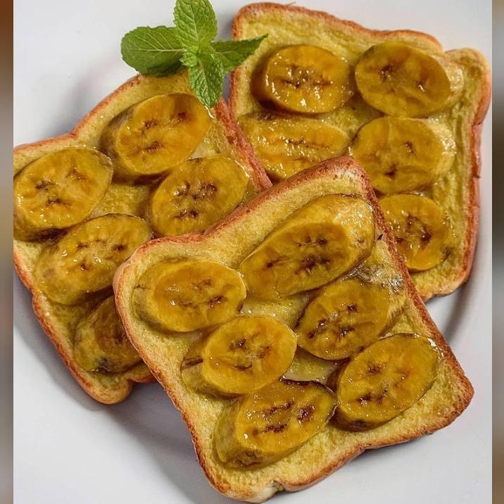 Gambar roti pisang yang sudah siap saji