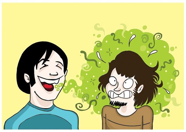 gambar cara menghilangkan bau mulut